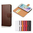Wallet Card Slot Shockproof Leather Flip Case For Samsung Galaxy S5 / S6 / S7