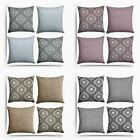 Set of 4 Cushion Covers Sophis & Plain Chenille Cushion Cover Collection