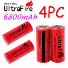 Lot 3.7V 26650 Battery 6800mAh High Drain Flat Top Li-ion Rechargeable Batteries
