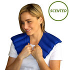 Aromatherapy Heat Pack for Neck & Shoulder Lavender Scented Wrap (Blue)