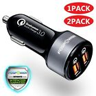 2 Dual Port USB Fast Car Charger 36W Quick Charge 3.0 for Apple iPhone X Samsung