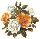 Yellow White Rose Flower Select-A-Size Waterslide Ceramic Decals Bx  image