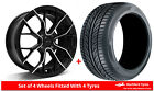 Alloy Wheels & Tyres 7.0x15 GEN2 Axiom 4 Black Polished Face + 1956015 Tyres