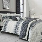 Ombre Luxury Duvet Covers Geometric Chevron Bedding Collections Charcoal Grey