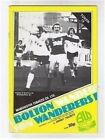 PROGRAMME Bolton Wanderers Football Club Home Game Programmes - VARIOUS