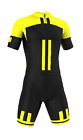 PRO Short Sleeve 'Giallo Nero' Cycling Road Suit (Skinsuit) Made in Italy by GSG