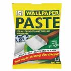 All Purpose Wallpaper Paste Adhesive Quick Mix Packet Super Strong Glue 10 Rolls
