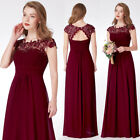 Ever-Pretty US Plus Lace Burgundy Bridesmaid Dresses Evening Prom Gowns 09993
