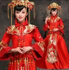 Chinese Bridal Gowns Cheongsam Wedding Dress Red Toast Dragon Phoenix Dresses