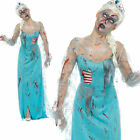 Ladies Zombie Froze to Death Elsa Costume Halloween Fancy Dress Outfit UK 8-18