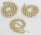"""18"""" 8mm 10mm 12mm champagne dark champagne south sea shell pearl necklace j12738"""