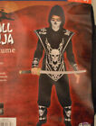 Boy's Skull Ninja 6 Pc Halloween Costume Outfit Sizes S(4-6), L(10-12)