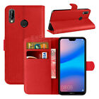 For Huawei P20 Lite Phone Case Luxury Leather Magnetic Flip Wallet Stand Cover