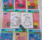 Peppa Pig Coloring Book Crayon Set Childs Birthday Party Favors Bag Fillers