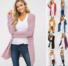 S M L Chunky Soft Mohair Knit Open Cardigan Sweater Long Sleeve Pockets Oversize