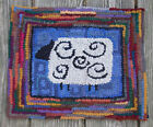 Primitive Sheep  Complete Primitive Rug Hooking Kit with cut wool strips