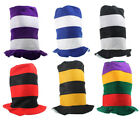 KOOL KAT STRIPED TOPHAT - Assorted Colors - COSTUMES