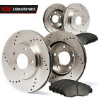 2012 2013 Ford Mustang (See Desc.) (Cross Drilled) Rotors Metallic Pads F+R
