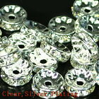 100pcs Swarovski Czech Crystal Rhinestone Rondelle Spacer Beads 4 5 6 8 10mm