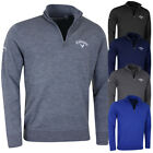 Callaway Golf Mens Ribbed LC Logo Merino Sweater Jumper Pullover 57% OFF RRP
