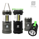 Portable COB LED Camping Lantern 350 lumens Collapsible Flashlights w/ Magnet