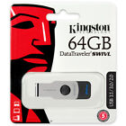 Kingston 128GB 64GB 32GB 16GB DT SWIVL Flash USB 3.0 3.1 Drive 100MB/s OTG Lot