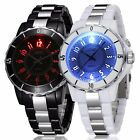 Fashion Men's Women's Stainless Steel LED Waterproof Quartz Analog Wrist Watch image