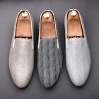 Mens Fashion Flats Shoes Loafers Pull On Bling Round Toe Casual Boys Formal Chic