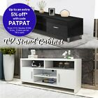 Modern TV Stand Cabinet Entertainment Side Unit 2 Doors Wooden Storages Drawers