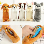 Cartoon Plush Dog Pen Pencil Case Makeup Bag Cosmetic Pouch Purse Stationery New