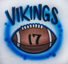 Airbrushed Football with Team Name Shirt - Personalized with name