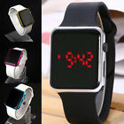 Women Men Unisex Digital LED Sports Watch Silicone Band Wrist Watches Wristwatch image