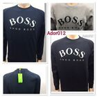 NEW HUGO BOSS LONG SLEEVE CREW NECK SWEAT SHIRT FOR MEN