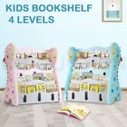 4 Levels Kids Bookshelf Bookcase Book Magazine Display Organiser Shelf Rack
