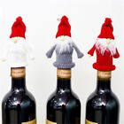 Xmas Hat Wine Bottle Topper Mini Knitted Santa Claus Christmas Tree Hanging S