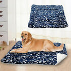 Внешний вид - Pet Warm Mat Large Dog Cat Puppy Fleece Soft Blanket Crate Bed Cushion Blue Bone