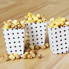 12pcs Mini Polka Dots Paper Popcorn Boxes Candy Cookie Package Bags Party Favor