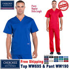 Cherokee Scrubs Set PROFESSIONAL Men's Top  Pants WW695/WW190 Regular/Petite