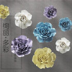 Handmade Ceramic Rose Hangings 3D Wall Decor Flowers Room Wall Decorations Art