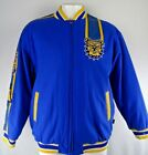 North Carolina A&T Aggies Men's Wool Jacket Faux Leather Sleeve Stripes NCAA XL