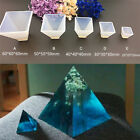 B&H Pyramid Silicone Mould DIY Resin Decorative Mold Craft Jewelry Making M WD