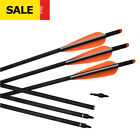 "12 pcs Archery Fiberglass Crossbow Bolts 16/18/20/22"" Roll Fiberglass Hunter HC"
