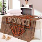 Quality Harley Davidson Super Soft Blanket Warm $26.93 USD on eBay