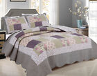 ALL FOR YOU Reversible Bedspread, Coverlet,Quilt *99* Beige patchwork Prints image
