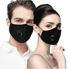 Washable & Reusable N95 Anti Air Pollution Face Mask With Respirator &2 Filters
