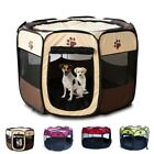 US Large Pet Dog Cat Playpen Folding Tent House Portable Fence Kennel Cage Crate