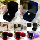 Earring Engagement Pendant Wedding Storage Case Ring Box Jewelry Display Velvet