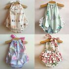 Внешний вид - Newborn Infant Baby Girl Floral Romper Bodysuit Jumpsuit Outfits Sunsuit D04