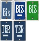 Old French house number BIS TER alternative door gate plate wall enamel sign