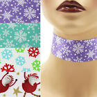 Christmas Choker 1.5 inch Custom Necklace 38 mm - 40 mm winter holiday snowflake